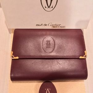 """Vintage Cartier wallet """"must deCartier"""" collection"""